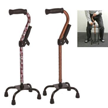 杖 自立式 四点杖補助グリップ付 フジホーム 多点杖 立ち上がり補助 高齢者 杖 4点 杖 ステッキ