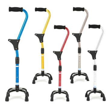 杖 4点 スタンダップサポートクォードケイン クリスタル産業 ステッキ 杖 多点杖 介護用品 立ち上がり 杖 自立式