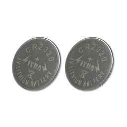 CR2020 3V コイン型リチウム電池2個セット 135mAh 厚さ2mm 電子メモパッド等の電池交換用に LP-CR2020SET2 送料無料