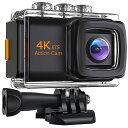 4K画質 アクションカメラ EIS(手ぶれ補正) バッテリー