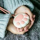 肉球ハンドウォーマーUSB充電式カイロ猫の手可愛いお腹を温める寒さ対策スマホに充電可能2段階温度調節可ストラップ付きLP-USBKAR3000