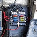 6WAY回路 ヒューズホルダー ヒューズボックス スクエア型 6分...