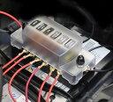 6WAY回路 平型ヒューズボックス 6分岐配線 12V‐32V汎用 5A 1...