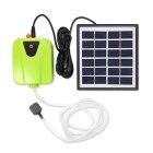 ソーラー充電式エアポンプ太陽光充電で電源不要USB充電対応エア吐出量毎分2L静音設計持ち運び使用可ポータブルエアポンプ各種水槽の酸素供給にエアポンプLP-BSVAP03