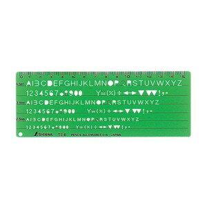 シンワ測定 テンプレート TE-6 英数字記号定規 66014