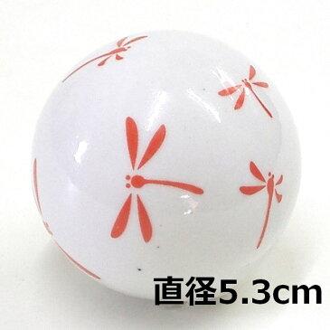 [陶器][フローティングボール]浮き玉 蜻蛉 レッド 大・中・小