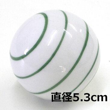 [陶器][フローティングボール]浮き玉 ボーダー グリーン 大・中・小