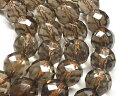 天然石 スモーキークォーツAAA 64面カット 10mm 1連売り