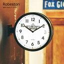 壁掛け時計 おしゃれ 時計 壁掛け 北欧 掛け時計 Robeston ロベストン CL-2138 両面時計 静音 音がしない インテリア ウォールクロック デザイナーズ オシャレ 見やすい シンプル【PUP01】【あす楽】