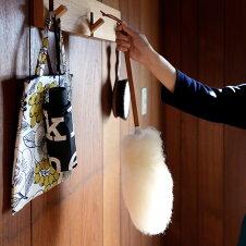 正規品イギリス製グレンクロフトウールダスターGlencroft羊毛ダスターロングダスター54cmラムウール天然羊毛100%ホコリ取りはたき