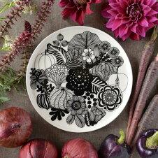 マリメッコMARIMEKKO食器皿シイルトラプータルハSIIRTOLAPUUTARHAプレート20cm063303199ホワイト/ブラックマイヤローエカリ