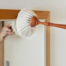 【送料無料】はたきダスターREDECKERレデッカーヤギ毛のはたき白山羊毛の高級埃掃い(はたき)ハンドメイド木