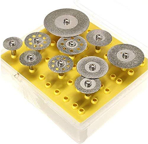 リューターカッター収納ケース付きダイヤモンドソーブレードダイヤモンドディスクミニダイヤモンドカッターグラインダー刃ルーター工具ダ