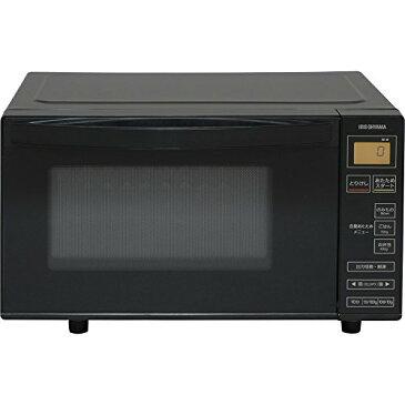 色:2)ブラック アイリスオーヤマ 電子レンジ 18L フラットテーブル ヘルツフリー 600W 全国対応 シンプル操作 ブラック IMB-FV1801