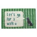 コイヤーマット LETS GO FOR A WALK  /玄関マット/...