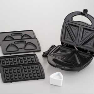 Narnad 可拆卸熱三明治製造商 (W) 3 件套的板或三明治製造商 / 麵包 / 烤麵包機 /NM-8370fs04gm