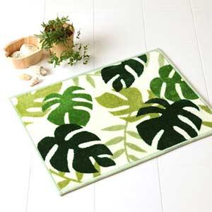 墊緊湊的龜背竹綠色 45 × 60 釐米 / 墊 / 吸收 / 乾燥 / 室內 / 腳踏墊屋面和