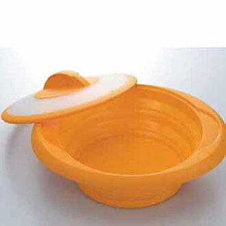 被烹飪設備蓋子 SK 100 蒸籠的矽 / 矽蒸汽案例 / 微波蒸籠 / 薯片 / 矽膠碗和烹飪碗 / 折疊 / 炊具 / 廚房 / fs04gm