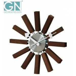 喬治 · 納爾遜 · 喬治,納爾遜時鐘啟發時鐘核桃掛鐘 / 時鐘 / 壁鐘 / 牆壁 / 牆時鐘、 時鐘、 牆時鐘 / 設計 / 禮品 / 禮物 / 室內、 古董、 華麗、 北歐 / 木 / 木 / 自然 / 簡單 /