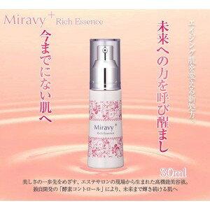 美容液 miravi + (Miravy +) 豐富精華 30 毫升 / 美容血清精華液 / 水分 / 梁 / 給 / 抗衰老 / 幹皮膚或油性皮膚 / 混合性膚質 / 保留水分和
