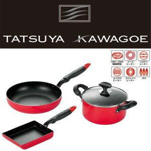 tatsuya·kawagoe(樹脂方向盤)廚房工具3分安排(兩鍋、平底鍋、煎雞蛋)/平底鍋/感到疼痛,鍋/炒,支持鍋/深型平底鍋/深的麵包/深的鍋/IH的/