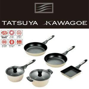 達也-川 5 件廚房工具套 (鍋和平底鍋 / 煎盤 28 釐米和 26 釐米和煎的雞蛋)