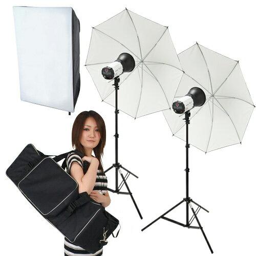【撮影照明 撮影機材ライトグラフィカ】「ソク撮」デジタル250Wストロボ2灯セットアパレル 料理 商品撮影や人物撮影に最適な撮影照明キット 一眼レフカメラで本格的な撮影!ワンランク上の写真が撮影可能!撮影用ストロボ照明キット