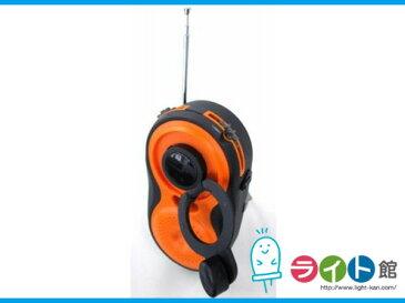 YAZAWA ヤザワコーポレーション 手回し・USB充電式 電池が不要!AM/FMシャワーラジオ BL108RMDOR