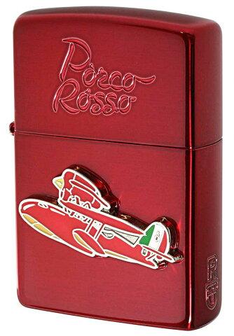 Zippo ジッポー キャラクター スタジオジブリ 紅の豚 ポルコ赤2 NZ-24 zippo ジッポ ライター オプション購入で名入れ可