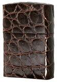 Zippo ジッポー クロコダイル革巻き・ブラウン zippo ジッポライター オプション購入で名入れ可