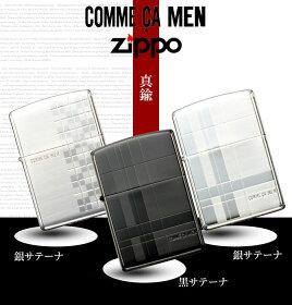 zippo名入れジッポーライターオイルライターコムサメンCOMMECAMEN05-46045ブラックサテーナ