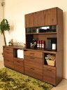 105キッチンボード キャビネット 食器棚 BR ブラウン 木製 ダイ...