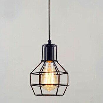【送料無料】【デザイン照明】ペンダントライト ブラック led 1灯  【ケージ/Cage】【LED対応/デザイン/照明器具/おしゃれ/カウンター/日本製】
