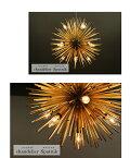 【送料無料】デザインペンダントライト led ゴールド 12灯 スプートニク【Sputnik】径520mm【クリア/日本製/LED対応/ゴージャス/モダン/デザイン系/照明器具】