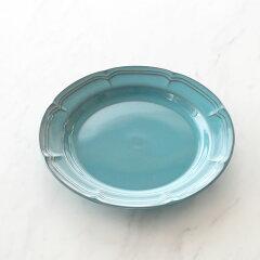【30%オフ】【ラフィネ】アンティークブルー21.5cmリムプレートプレート食器お皿デザート皿デザートプレートブランドシンプルおしゃれパーティー