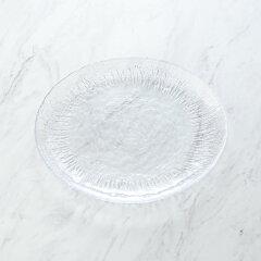 【M-style】ガラスウエアアイスベルク・フラッシュープレート24cmクリア食器お皿デザート皿デザートプレートブランドシンプルおしゃれパーティー