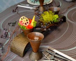 アートセンターアーチ越前焼カップセット 木製 テーブルコーディネートに大活躍するテーブルウェア・おもてなしアイテム 日本製  贈答品 センターピース