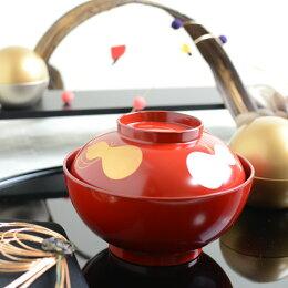 瓢箪(ひょうたん)雑煮椀 朱 贈答品 プレゼント テーブルウェア おもてなし おうちごはん 日本製
