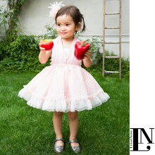 【ピンクドット】ベビードレス70cm〜90cmドレス・チューブトップ・ふわふわヘッドドレスセット