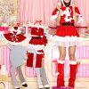 サンタコスプレ激安サンタコスクリスマスコスチューム衣装大きいサイズセクシーサンタクロースパーティレッグウォーマーケープポンチョフードサンタコスプレサンタコスチュームコス猫耳ネコ耳ねこ耳赤レッド2016レディースレディース