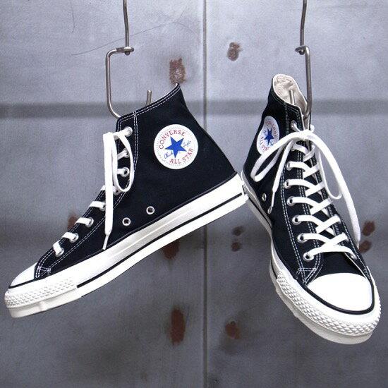 【 CONVERSE / コンバース 】 CANVAS ALL STAR J HI [BLACK] / キャンバス オールスター J HI CHUCK TAYLOR / チャックテイラー [ブラック] コンバース日本製 オールスター 日本製 MADE IN JAPAN / バルカナイズド製法