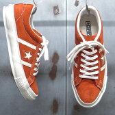 【 CONVERSE / コンバース 】 STAR & BARS SUEDE / スター&バーズ スエード [オレンジ×ホワイト] JACK STAR / ジャックスター LIMITED MODEL ◆日本正規代理店商品