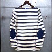 ジェームス ウエッソン ボーダー エルボーパッチ ボーダーバスクシャツ Tシャツ ECRU×MARINE