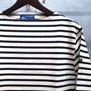 ジェームス ウエッソン ボーダー ボーダーバスクシャツ Tシャツ ECRU×NOIR ブラック