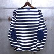 ジェームス ウエッソン ボーダー エルボーパッチ ボーダーバスクシャツ Tシャツ MARINE×ECRU