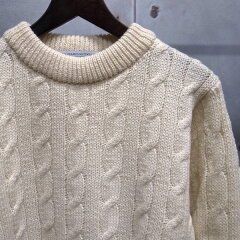 Wool Cricket Crewneck Sweater: Natural