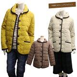 キルティングコートレディース中綿キルティングジャケットコートキルトジャケットダウンジャケットのような軽量であったか森ガールファッションナチュラル服