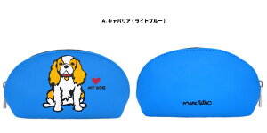 marc tetroドーム型ポーチ パグ/ボストンテリア/ビション/キャバリア 犬モチーフ 犬柄 メイクポーチ 化粧ポーチ 小物入れ extra small dome coin purse【宅急便コンパクト】[Lily robe]