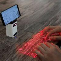 ワイヤレス仮想キーボード携帯電話ホルダーキーボードマウスiPhoneiPadAndroid対応Bluetooth3.0