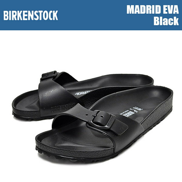 サンダル, コンフォートサンダル BIRKENSTOCK MADRID EVA Black EVA BIRKENSTOCK SANDAL